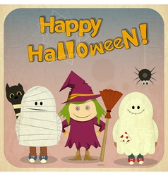 Retro Halloween Card vector image vector image