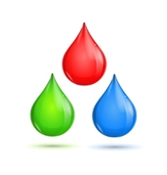Rgb glossy paint drops vector