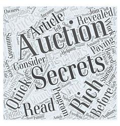 Storage auction secrets word cloud concept vector