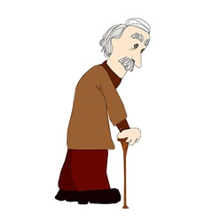 The old man on a white background vector image vector image