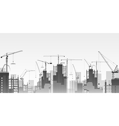 Tower Cranes vector image