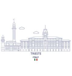 Trieste city skyline vector