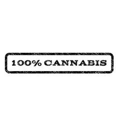 100 percent cannabis watermark stamp vector