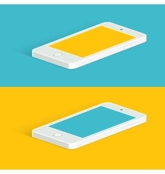 White infographic phone isometric view vector