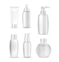 Collection of white bottle template for ads or vector