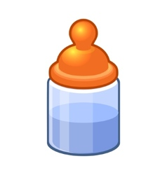Baby Bottle with Water or Milk vector image