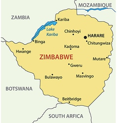 Republic of zimbabwe - map vector