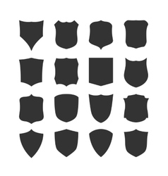 Big set of blank classic shields vector