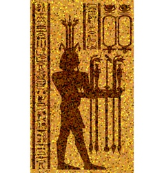 Egyptian hieroglyphs and fresco vector image