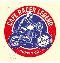 Grunge style of cafe racer badge vector