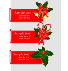 Set of winter christmas banners vector