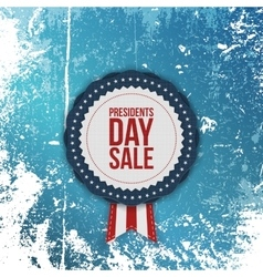 Presidents day sale realistic banner with ribbon vector