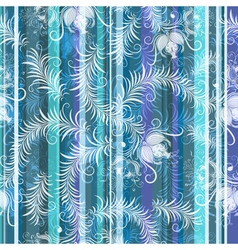 Blue-grey-white floral seamless pattern vector
