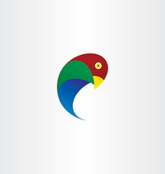 Parrot bird icon symbol vector