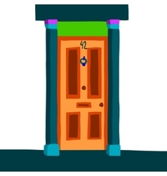 Cartoon abstract door icon vector