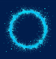 Blue abstract ring with grunge the whirlwind of vector