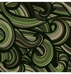 Camouflage military curly pattern background vector