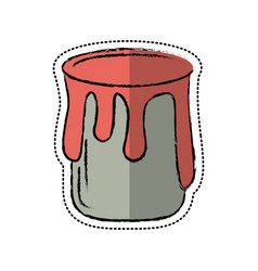 cartoon paint can colo icon vector image vector image