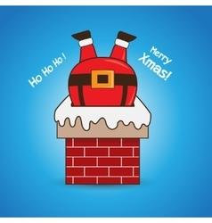 Cartoon Santa Claus in chimney vector image vector image