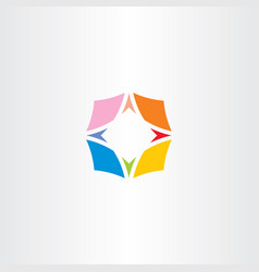 compass symbol colorful icon logo vector image