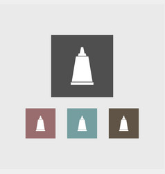 cream tube icon simple barbershop vector image vector image