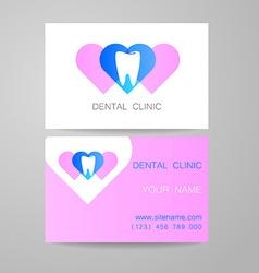 Dental clinic logo business card template vector