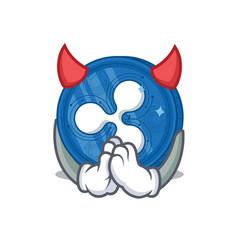 Devil ripple coin character cartoon vector