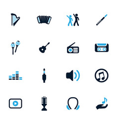 Disco or club icons set vector