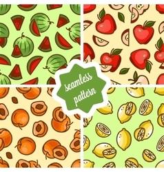 Fruit patterns set vector
