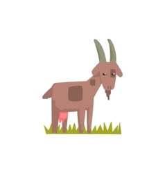 Goat toy farm animal cute sticker vector