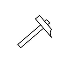 hammer icon vector image vector image