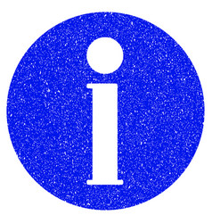 Info grunge icon vector
