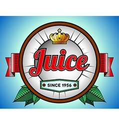 Juice or soda label vector image vector image