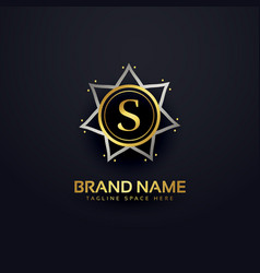 letter s logo design in premium style vector image