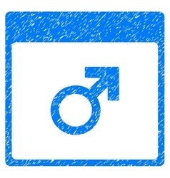 Mars male symbol calendar page grainy texture icon vector