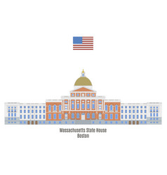 massachusetts state house vector image vector image
