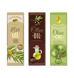 Olive Vertical Banners Set vector image vector image
