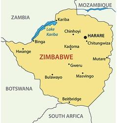 Republic of zimbabwe - map vector