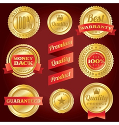 Satisfaction Guarantee Warranty Badges and Labels vector image vector image
