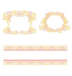 Set with vintage frame vector image