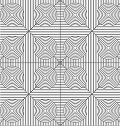 Slim gray stripes circles on striped triangles vector image vector image
