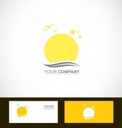 Sun tourism logo vector