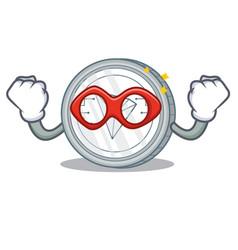 Super hero tron coin character cartoon vector