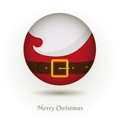 the beard of santa claus icon vector image vector image