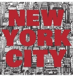 Vintage poster with quote Hello New York vector image vector image
