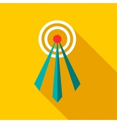 Telecommunication tower icon flat style vector