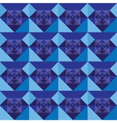 Squares seamless royal blue background design vector