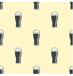 Beer glass pattern seamless background vector