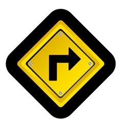 Metal notice with arrow sign icon vector