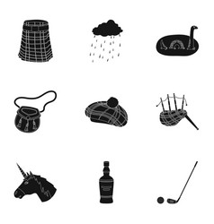 National symbols of scotland scottish attractions vector